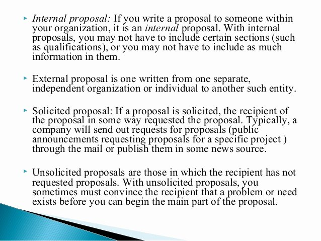 Internal Proposal Template Awesome Business Proposal