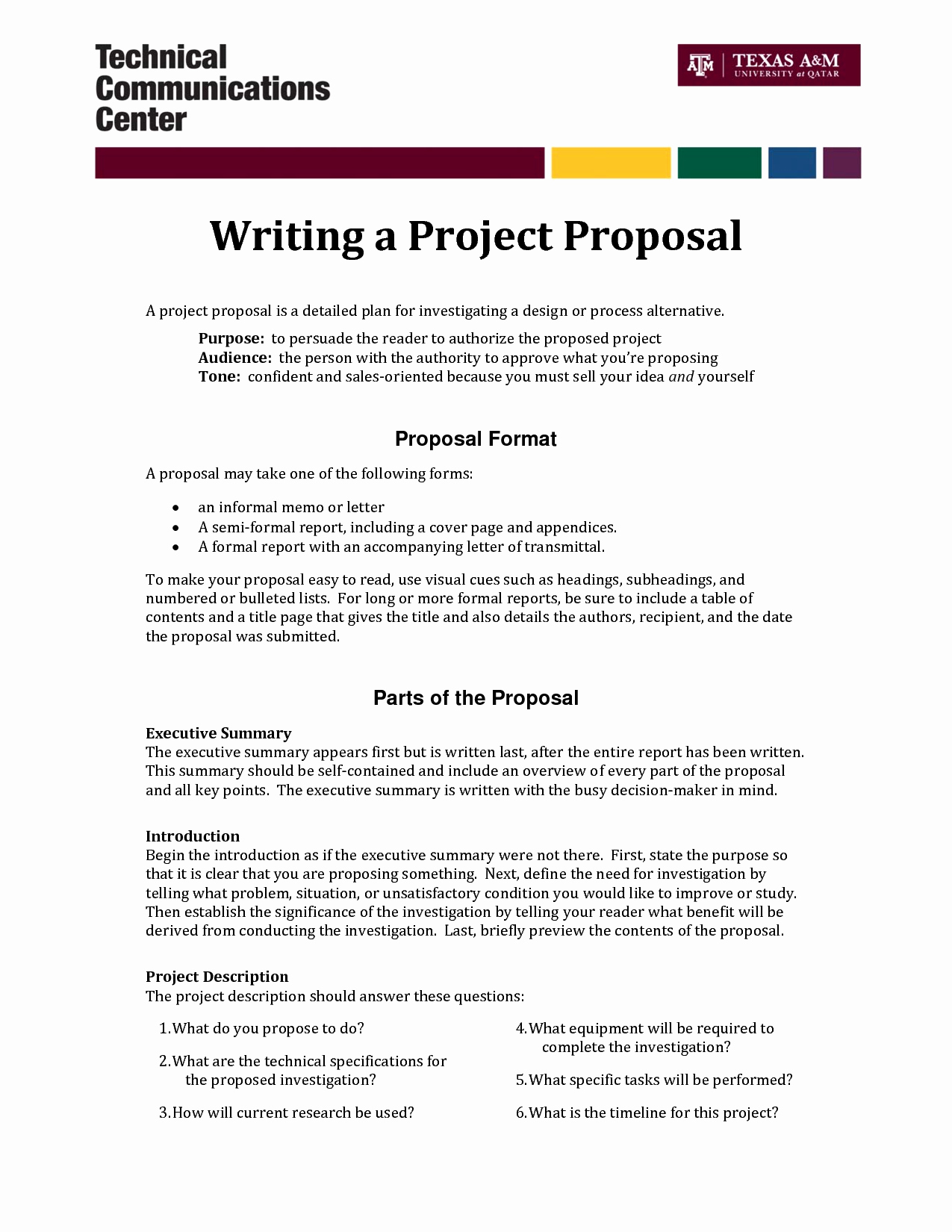 Internal Proposal Template Beautiful Informal Proposal Letter Example