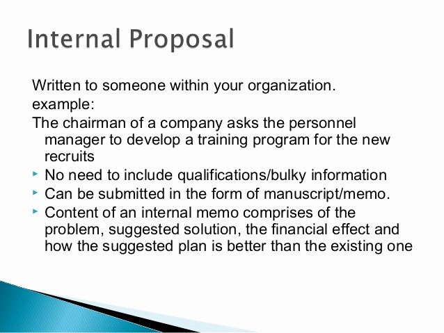 Internal Proposal Template Inspirational Business Proposal