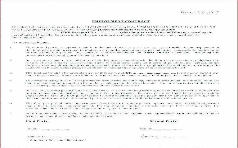 Internal Service Level Agreement Template Awesome Hr Agreements