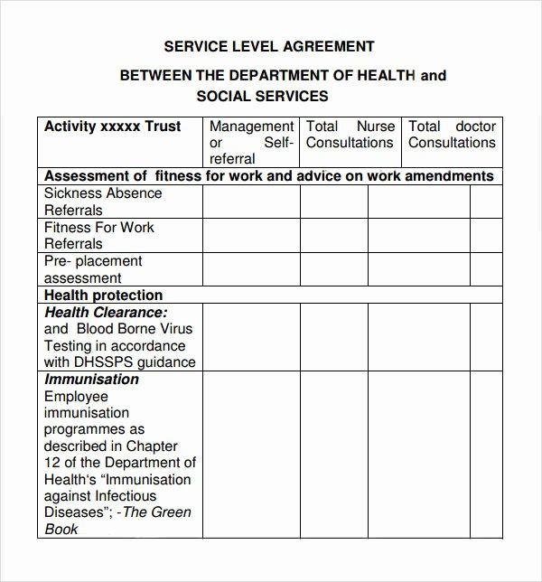 Internal Service Level Agreement Template Best Of Service Level Agreement 8 Free Pdf Doc Download