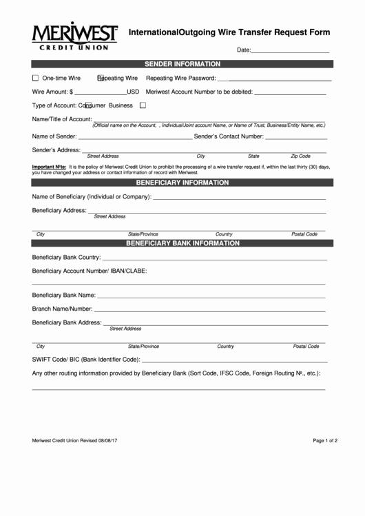 International Wire Transfer form Template Fresh top 12 Wire Transfer Request form Templates Free to