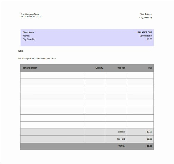 Invoice Template Word 2010 Awesome 12 Microsoft Word Free Blank Templates Download