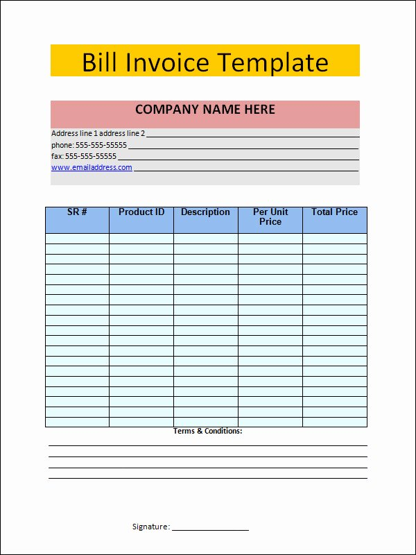 Invoice Template Word 2010 Awesome 15 Free Invoice Template Word