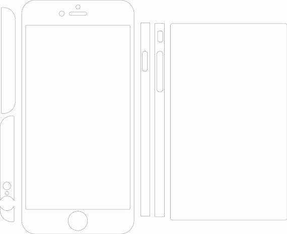 iPhone 6 Skin Template Pdf Unique iPhone 6 Plus Skin Template for Cutting or Machining