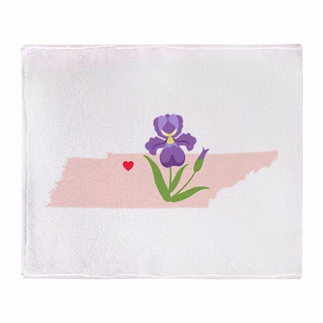 Iris Flower Outline Inspirational Tennessee State Outline Iris Flower Throw Blanket by