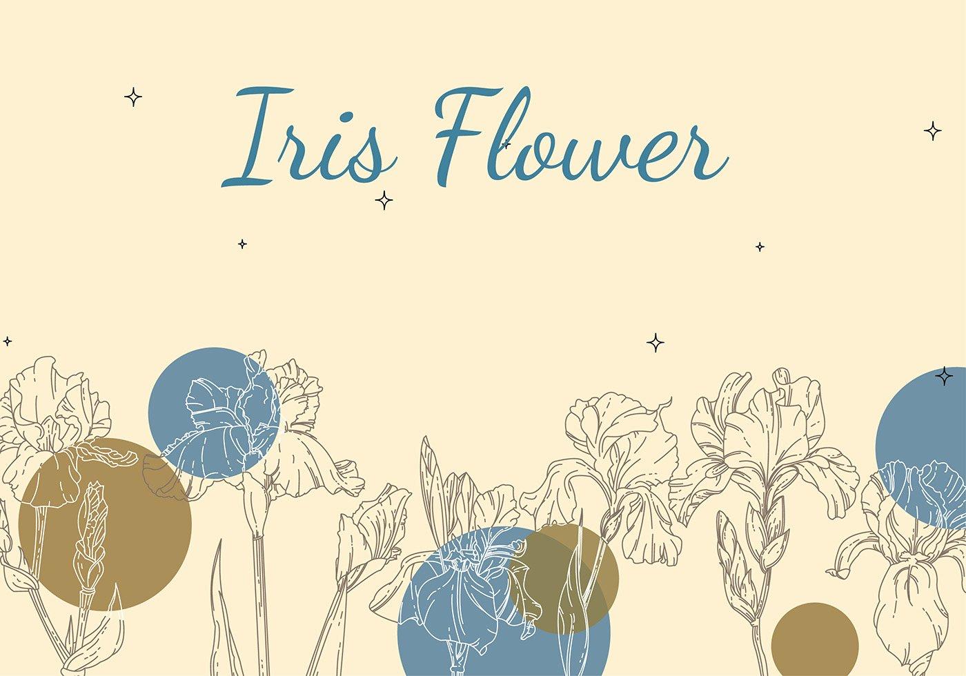 Iris Flower Outline Luxury Iris Flower Background Outline Free Vector Download Free