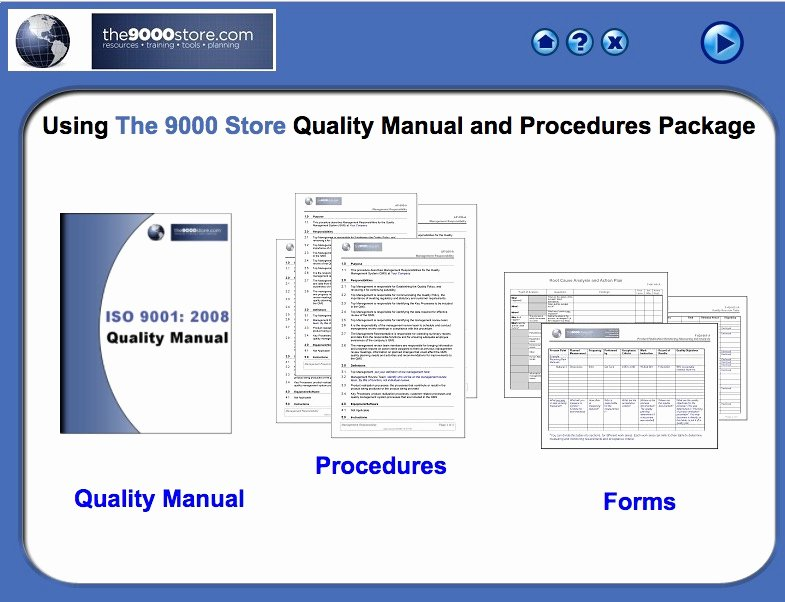 Iso 9001 Work Instruction Template Luxury iso 9001 2015 Quality Manual & Procedures 9000 Store