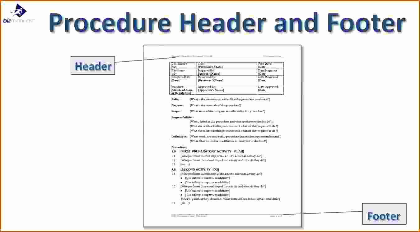Iso Process Template Fresh 14 Standard Operating Procedures Templates