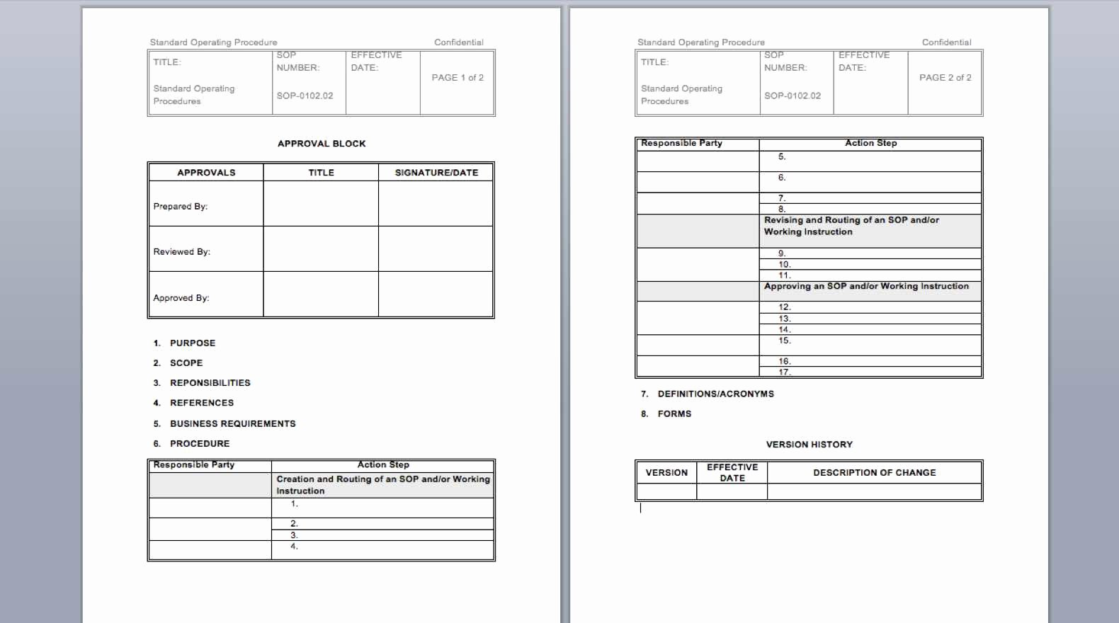 Iso Work Instruction Template Awesome 25 Free sop Templates Create Great Standard Operating