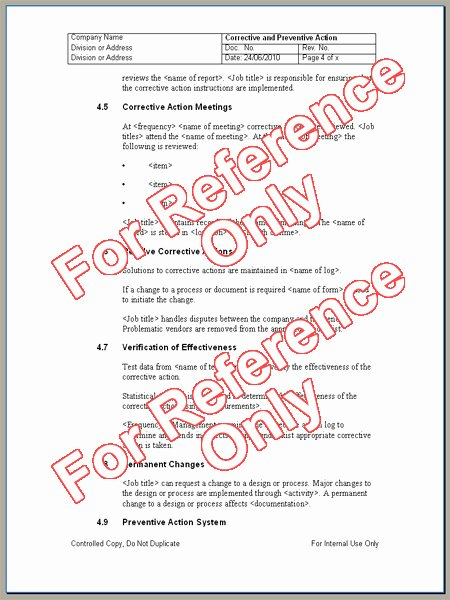 Iso Work Instruction Template Elegant iso Standard Operating Procedure Template