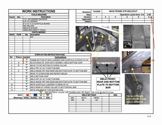 Iso Work Instruction Template Elegant Work Instructions