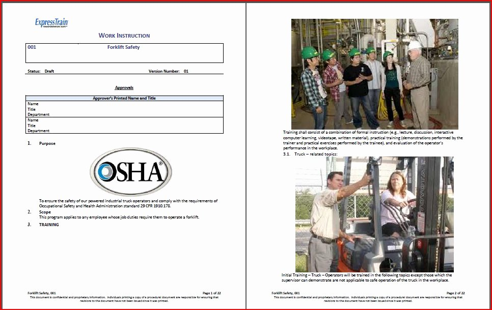 Iso Work Instruction Template Lovely Work Instruction Template