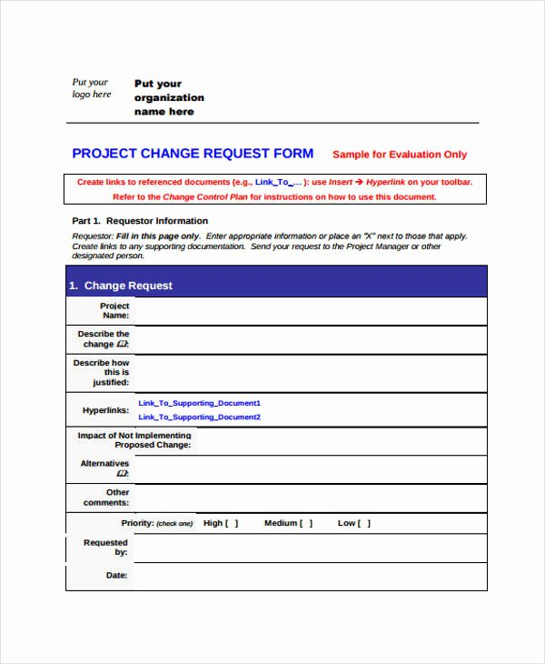 It Project Request form Template Awesome Free Change forms