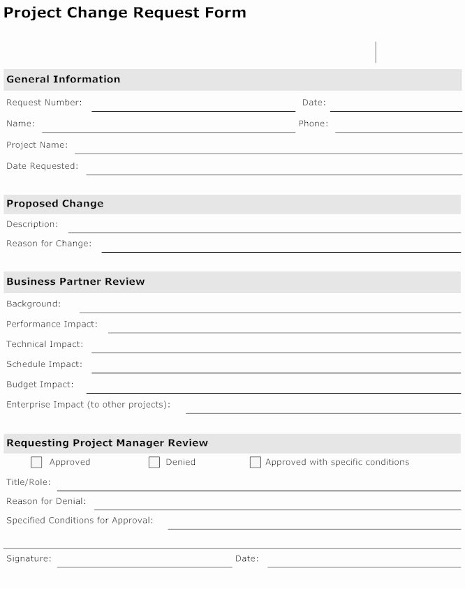 It Project Request form Template Beautiful Best S Of It Project Request form Template Project