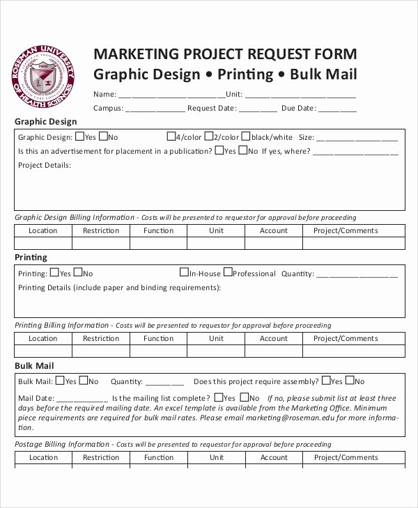 It Project Request form Template Elegant 50 Sample Request forms