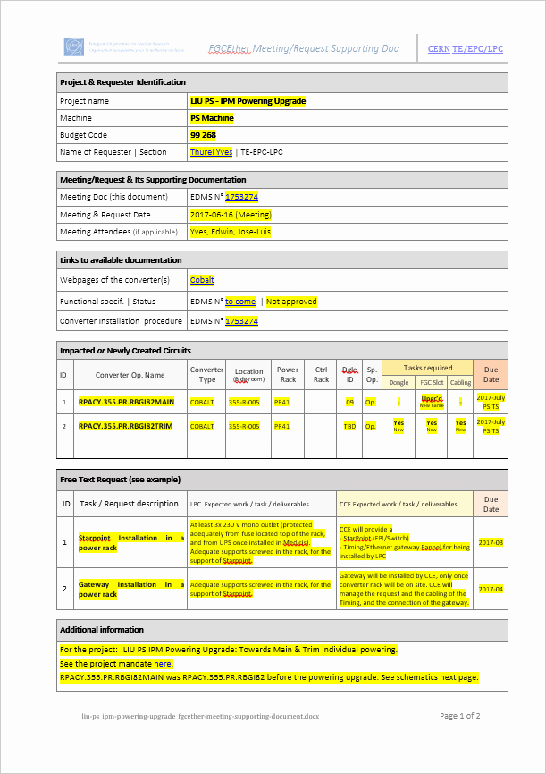 It Project Request form Template Lovely Templates