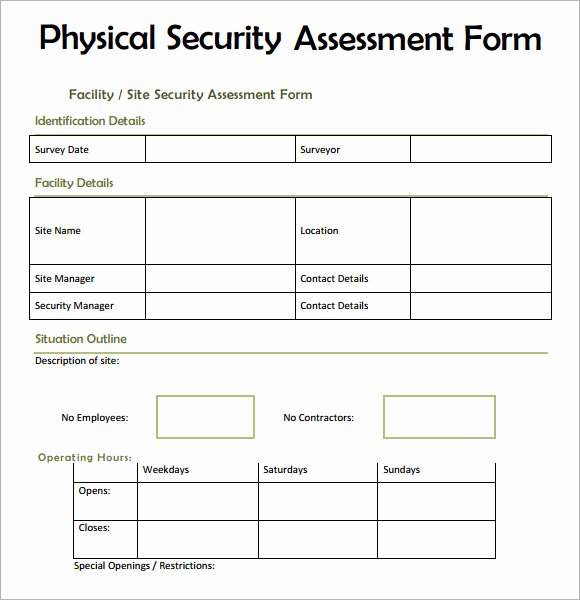 It Security Audit Checklist Template Fresh 28 Of Blank Security Checklist Template