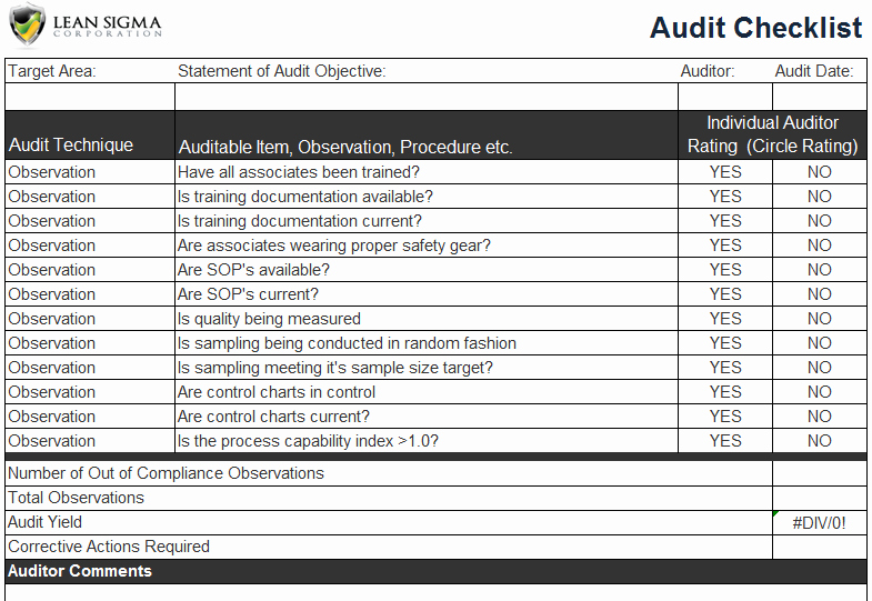 It Security Audit Checklist Template Lovely Security Audit Network Security Audit Checklist Excel