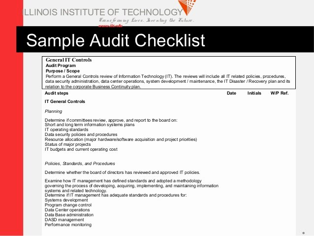 It Security Audit Checklist Template New Security Audit Information Security Audit Checklist Template