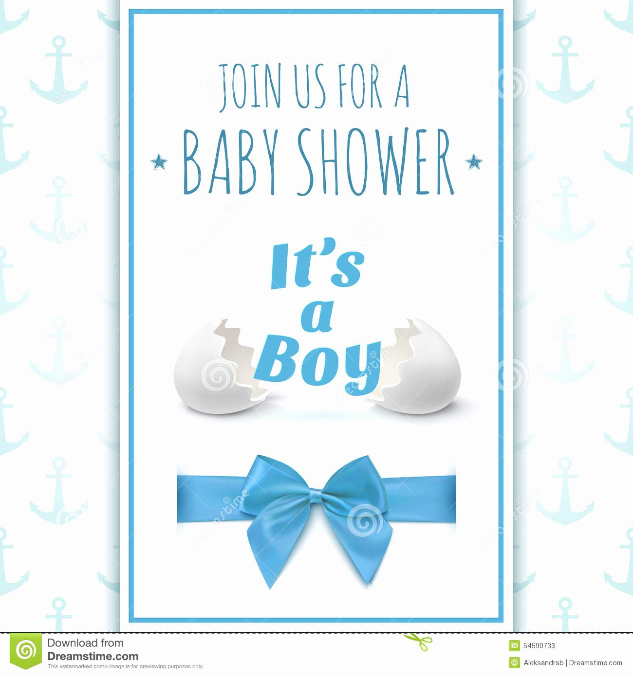 It's A Boy Announcement Template Elegant Its A Boy Template for Baby Shower Celebration Stock