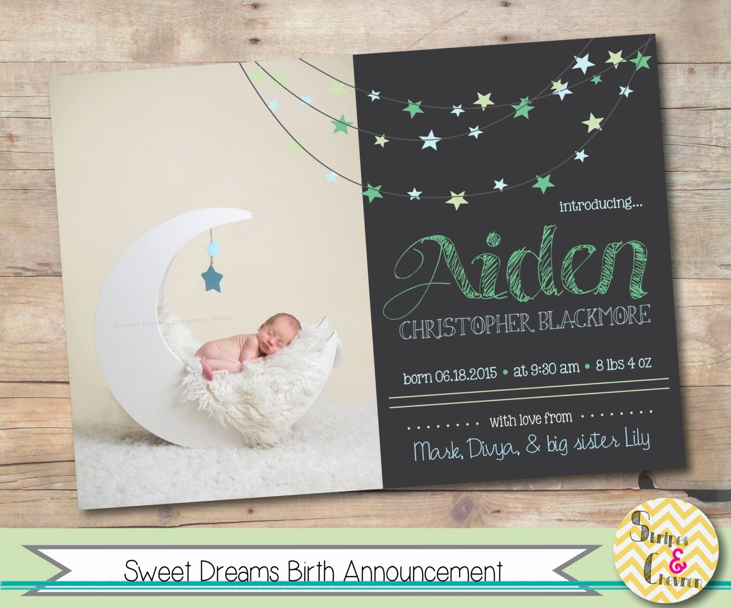 It's A Boy Announcement Template Fresh Baby Birth Announcement Template Baby Boy or Baby Girl Moon
