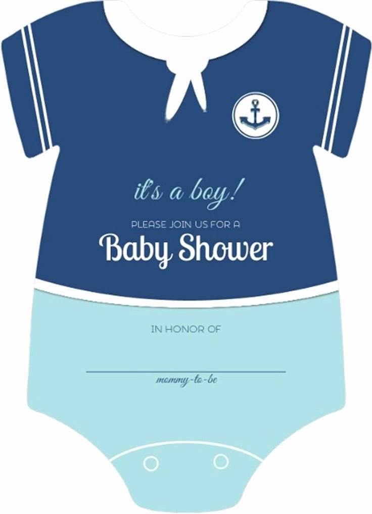 It's A Boy Announcement Template Luxury Sailor Esie Boys Nautical themed Fill In Blank Baby