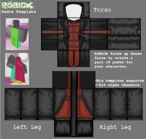 Jacket Template Roblox Beautiful Black and Red Army Roblox Uniform Template to Pin