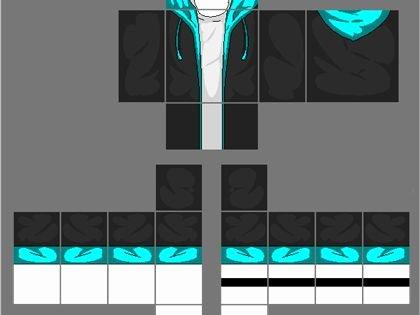 Jacket Template Roblox Best Of Black Jacket with Cyan Blue Hoo A Image by 2otaku4lyfe