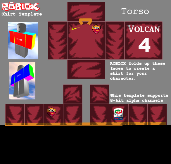 Jacket Template Roblox Luxury as Roma Roblox Kits for Each Player