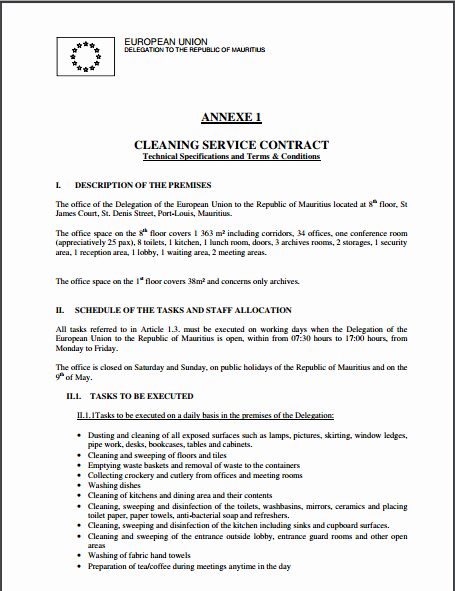 Janitorial Contract Template Beautiful Cleaning Contract Template