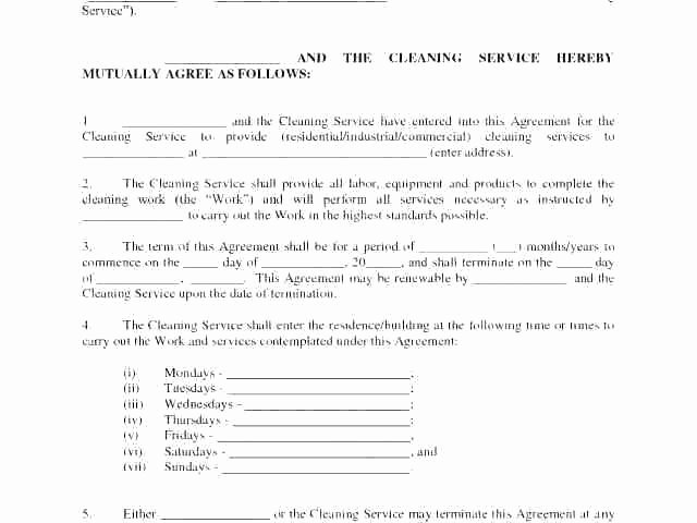 Janitorial Contract Template Best Of Janitorial Services Contract Template