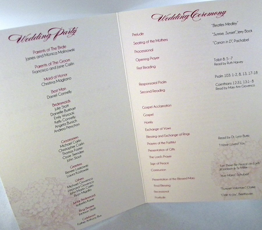 Jewish Wedding Program Template Inspirational tony S Blog All the Piercings One Could I 39d Say