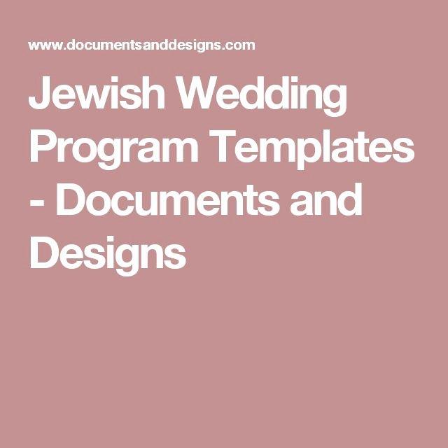 Jewish Wedding Program Template Lovely 1000 Ideas About Wedding Program Templates On Pinterest