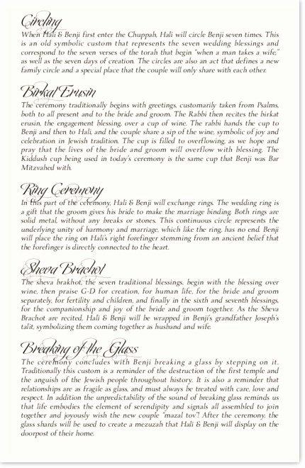Jewish Wedding Program Template Luxury Jewish Wedding Programs and Jewish Program Wording
