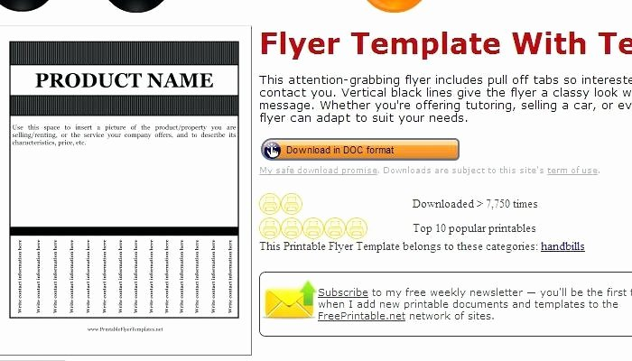 Job Advertisement Template Microsoft Word Awesome Flyers with Pull Tabs Entown Posters