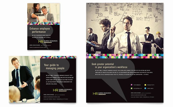 Job Advertisement Template Microsoft Word Awesome Human Resource Management Flyer & Ad Template Design