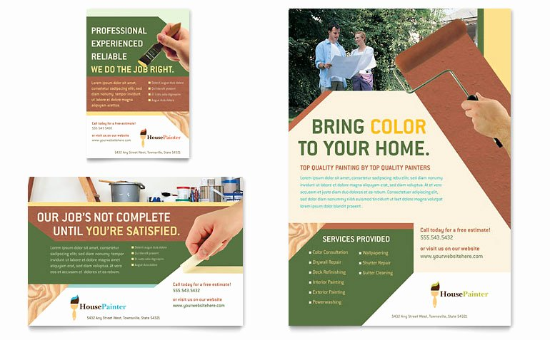 Job Advertisement Template Microsoft Word Elegant Painter & Painting Contractor Flyer & Ad Template Word