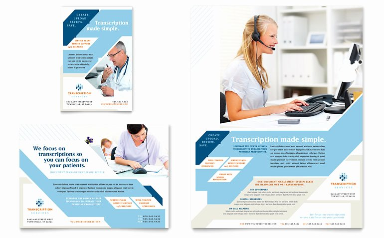 Job Advertisement Template Microsoft Word New Medical Transcription Flyer & Ad Template Word & Publisher