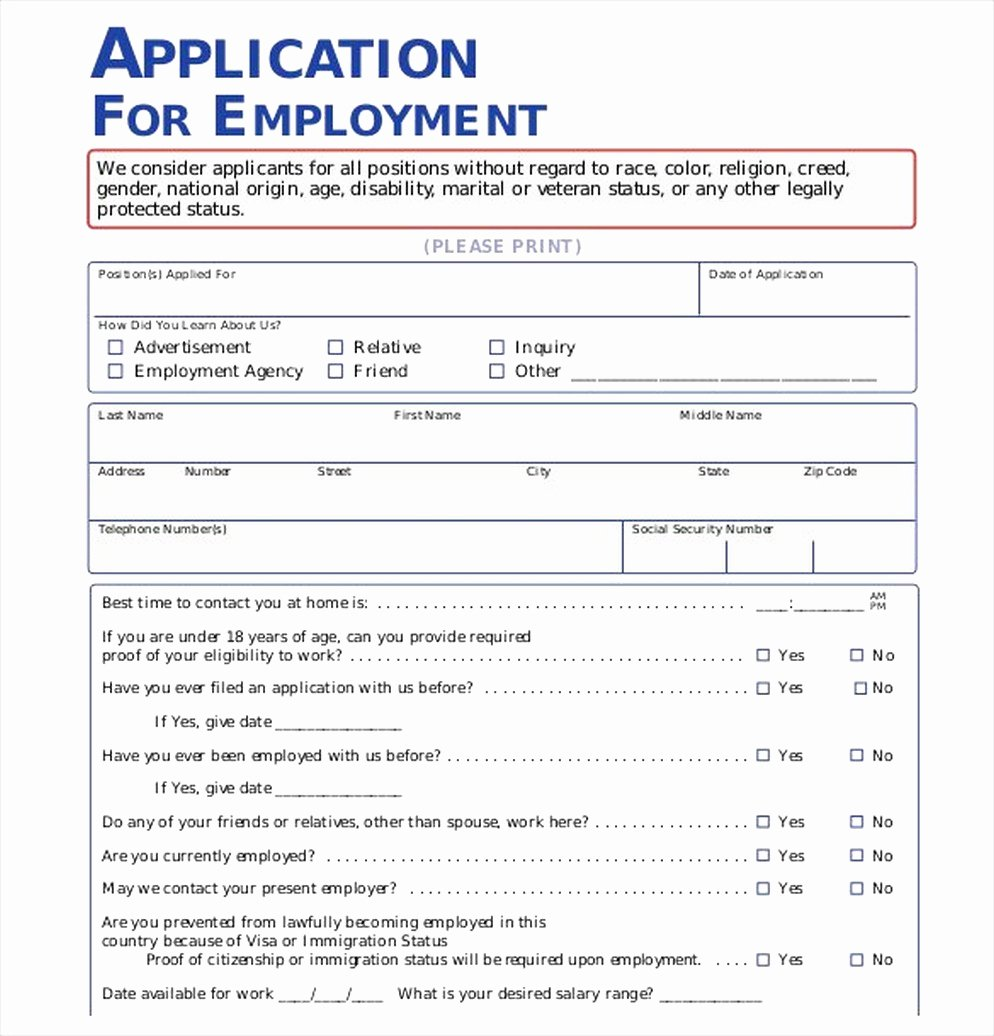 Job Application Sample Pdf Inspirational the Importance Of Employment Application Pdf Free Job