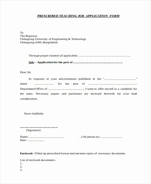 Job Application Sample Pdf New 52 Application Letter Examples & Samples Pdf Doc