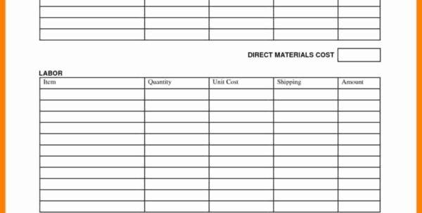 Job Cost Sheet Template Inspirational Simple Job Costing Spreadsheet Spreadsheet Downloa Simple