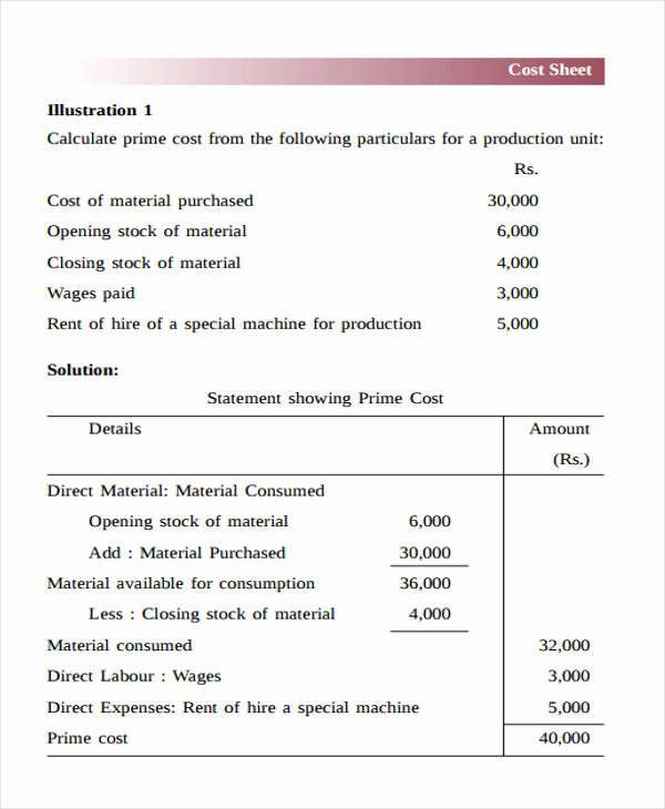 Job Cost Sheet Template New 28 Sheet Templates In Pdf