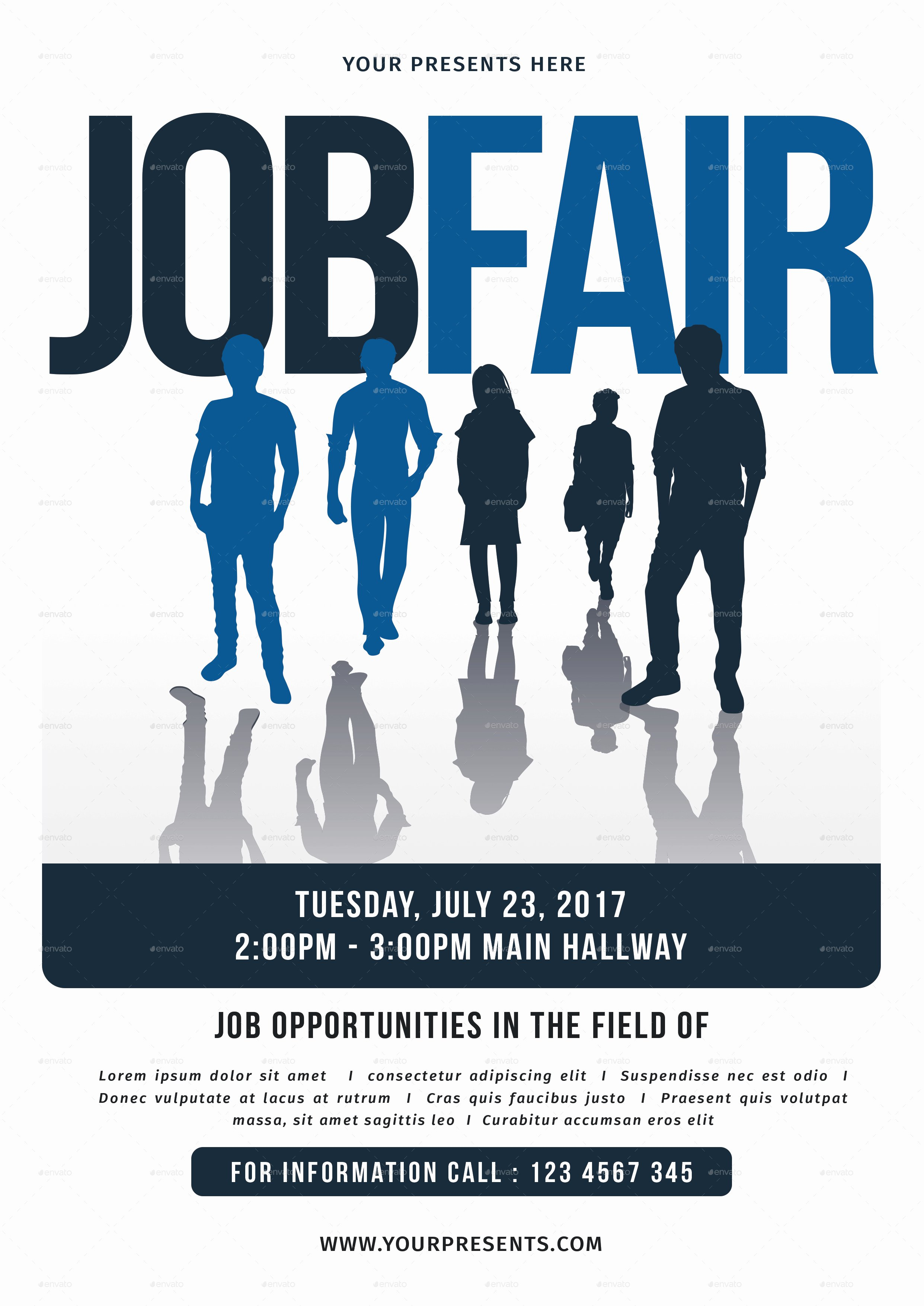 Job Flyer Template Word Awesome Job Fair Flyer by Lilynthesweetpea