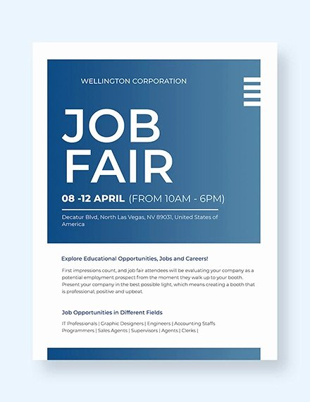 Job Flyer Template Word Best Of 16 Job Fair Flyers Word Psd Ai Indesign
