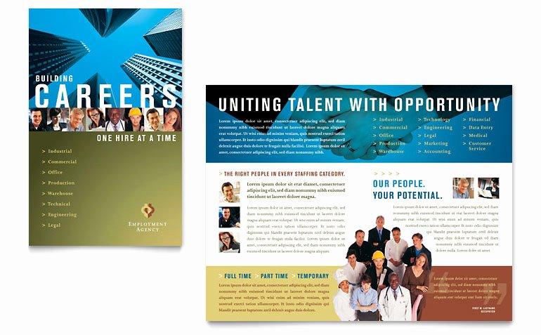 Job Flyer Template Word Best Of Employment Agency & Jobs Fair Brochure Template Word