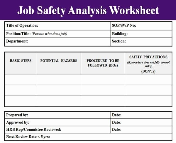 Job Hazard Analysis Template Excel Awesome Job Hazard Analysis Template Beepmunk