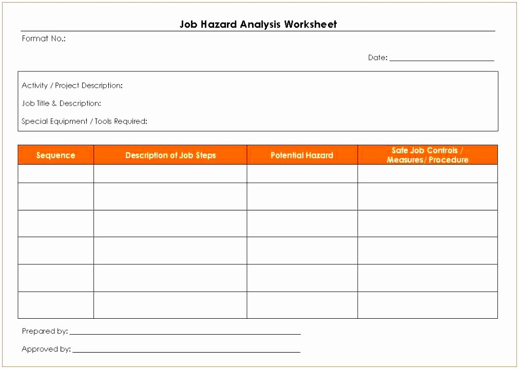 Job Hazard Analysis Template Excel Fresh 12 Hazard Identification form Template Eouie