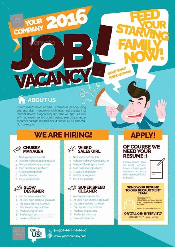 Job Posting Examples Beautiful Job Vacancy Flyer Bigbash