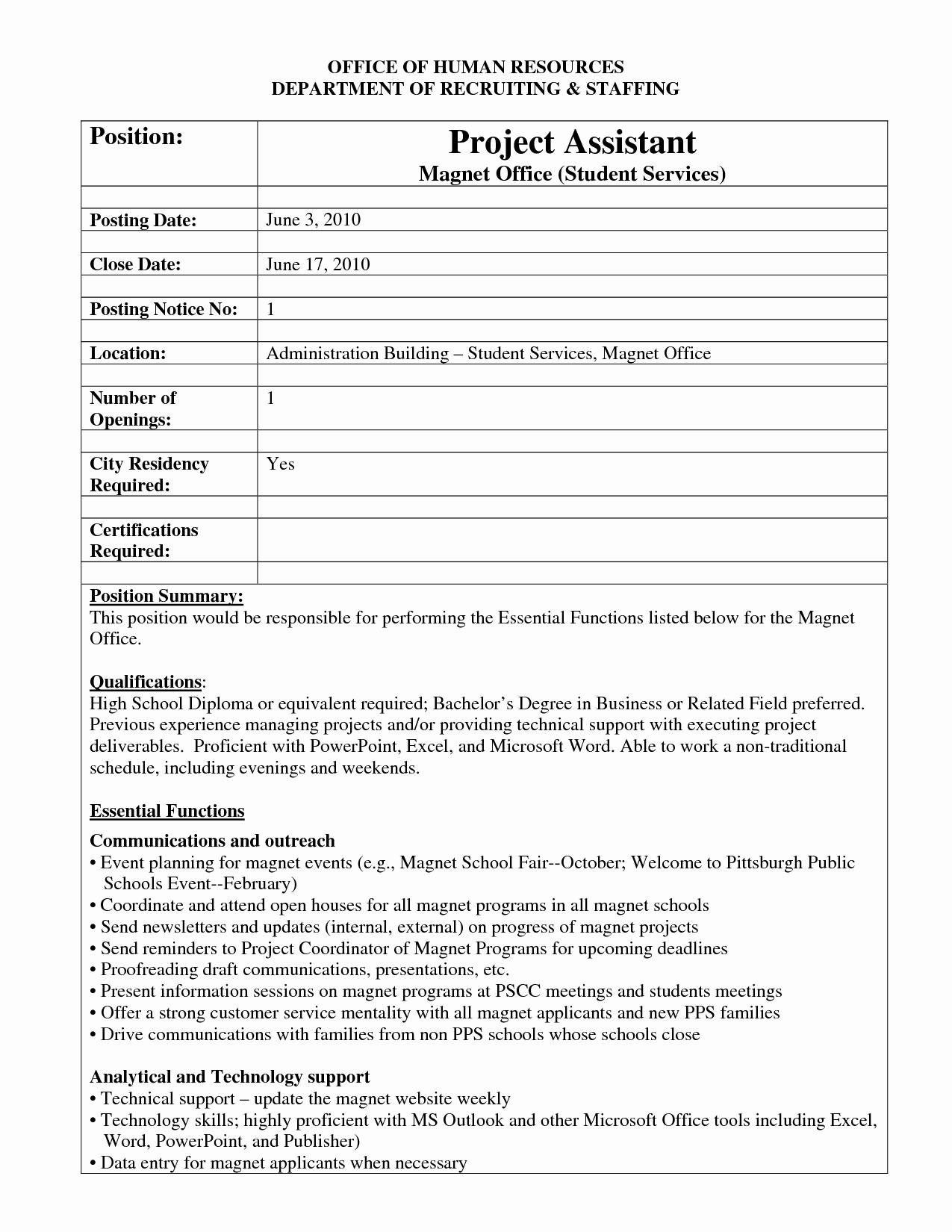 Job Posting Examples Elegant Best S Of Internal Job Posting Template Word Resume